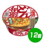 【彩り七味】日清食品 日清のどん兵衛 天ぷらそば [西] ×12個